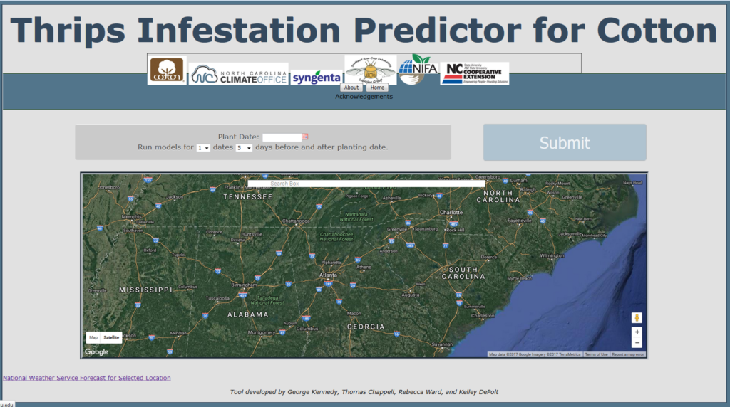use the thrips forecasting tool to make preplant management decisions kennedy chappell huseth reisig nc state extension