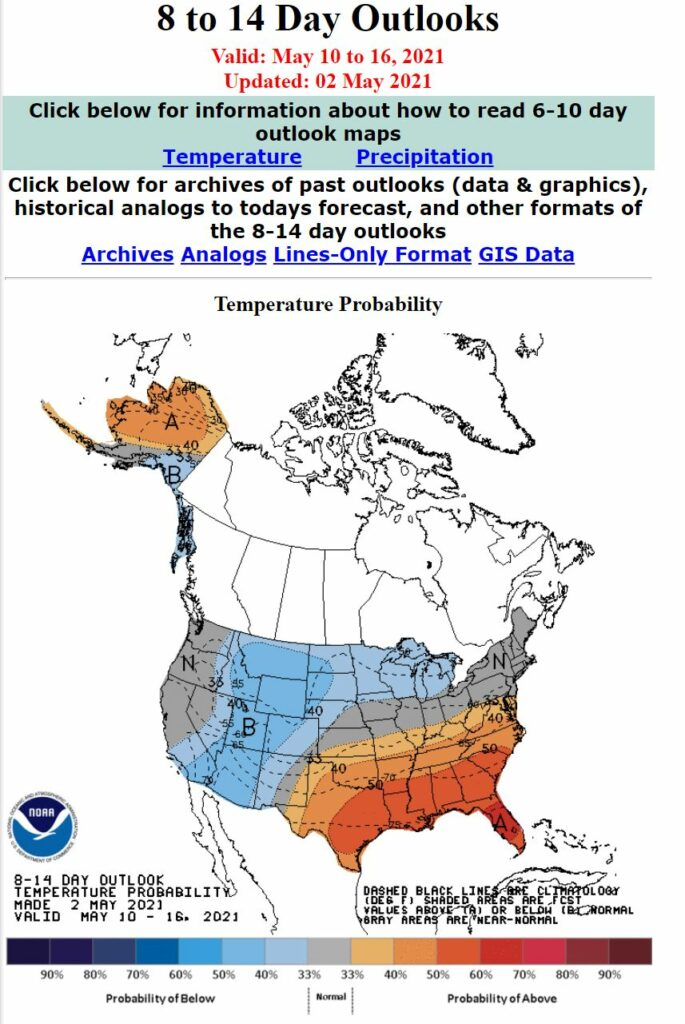 8 to 14 day outlook map